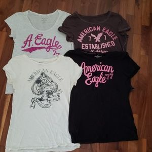 4 Large Lightweight American Eagle T-shirts